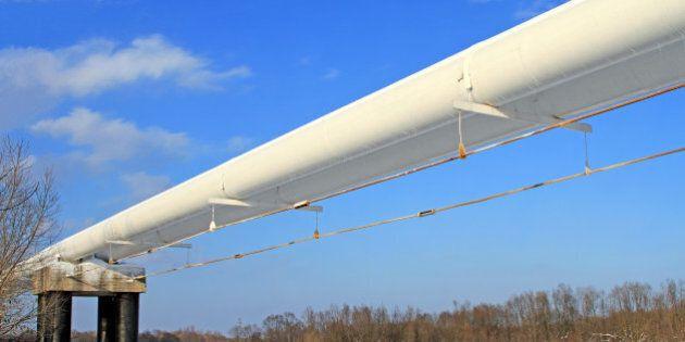 the high pressure pipeline in a
