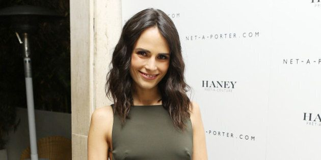 LOS ANGELES, CA - JANUARY 30:  Jordana Brewster arrives at the Net-A-Porter and Haney Pret-A-Couture hosts launch party held at The Standard Hotel on February 1, 2014 in Los Angeles, California.  (Photo by Michael Tran/FilmMagic)