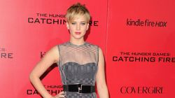 JLaw's Dress Leaves Little To The