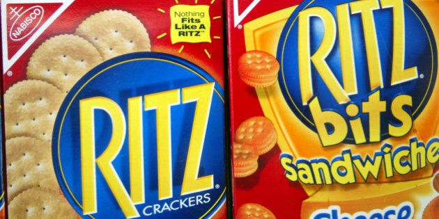 MIAMI - JULY 1: Ritz crackers are displayed on a store shelf July 1, 2003 in Miami, Florida. Kraft Foods...