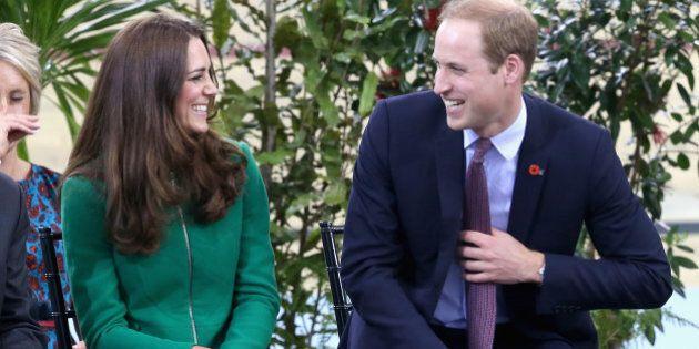 HAMILTON, NEW ZEALAND - APRIL 12: Prince William, Duke of Cambridge and Catherine, Duchess of Cambridge...