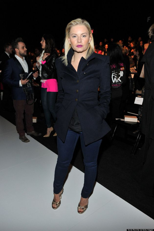 Elisha Cuthbert Takes In VAWK At Toronto Fashion Week Fall 2014