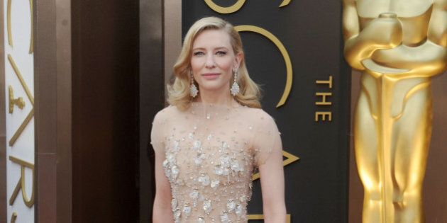HOLLYWOOD, CA - MARCH 02: Actress Cate Blanchett arrives at the 86th Annual Academy Awards at Hollywood...