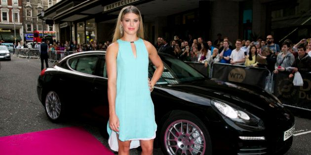 LONDON, UNITED KINGDOM - JUNE 19: Eugenie Bouchard arrives with a Porsche Panamera for the WTA Pre-Wimbledon...