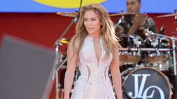 Jennifer Lopez's Dress Held Together By Safety