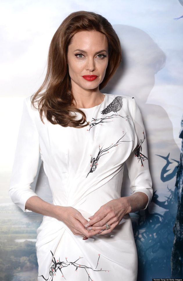 Angelina Jolie Is A Vision In White Body-Hugging Versace
