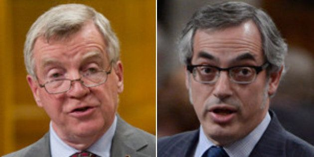 Tony Clement, Laurie Hawn Gold-Embossed Business Cards Against The