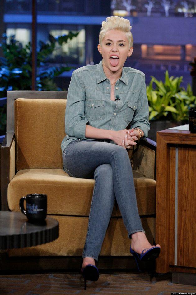 Miley Cyrus Rocks Canadian Tuxedo On 'The Tonight Show'
