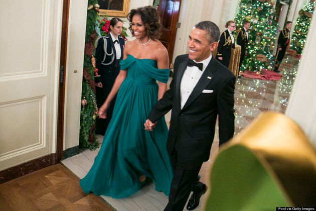 Michelle Obama Dazzles In Green Marchesa Gown At 2013 Kennedy Center Honors