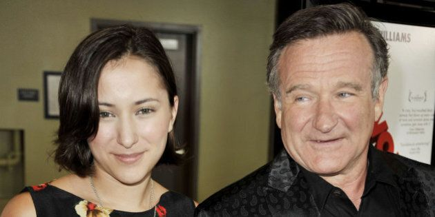 LOS ANGELES, CA - AUGUST 13:  Actress Zelda Williams (L) and her father actor Robin Williams arrive at the premiere of Magnolia Pictures' 'World's Greatest Dad' at The Landmark Theater on August 13, 2009 in Los Angeles, California.  (Photo by Kevin Winter/Getty Images)