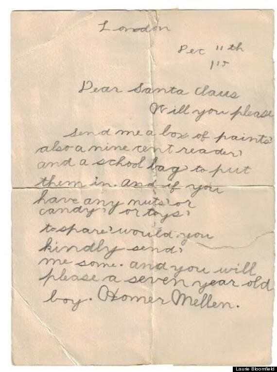 1915 Santa Letter: 98-Year-Old Letter To Santa Is Sweetly