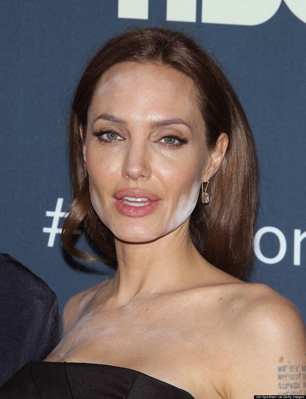 Angelina Jolie's Epic Powder Makeup Disaster Is So Unlike