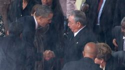 Historic Handshake At Mandela