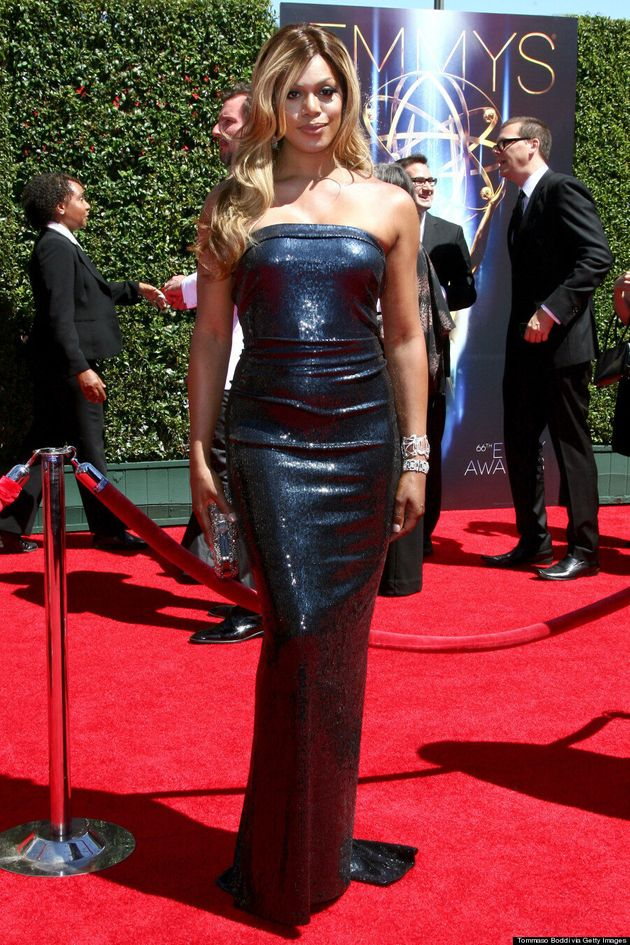 Laverne Cox's Creative Arts Emmys Dress Is A Glittery Dream