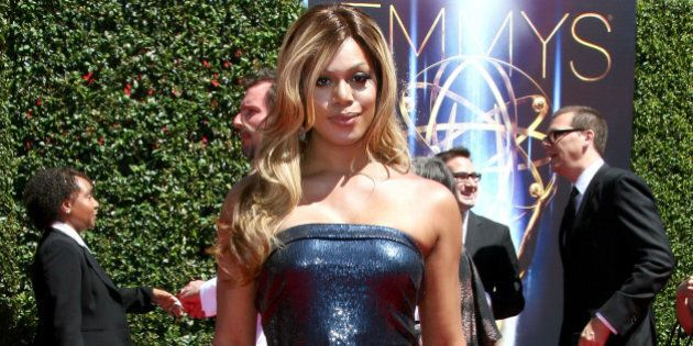 LOS ANGELES, CA - AUGUST 16: Actress Laverne Cox attends the 2014 Creative Arts Emmy Awards held at the...