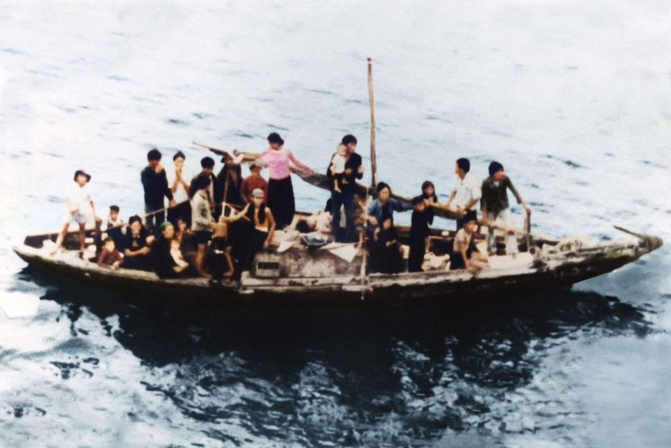 The boat Nguyen's parents used to escape Vietnam.
