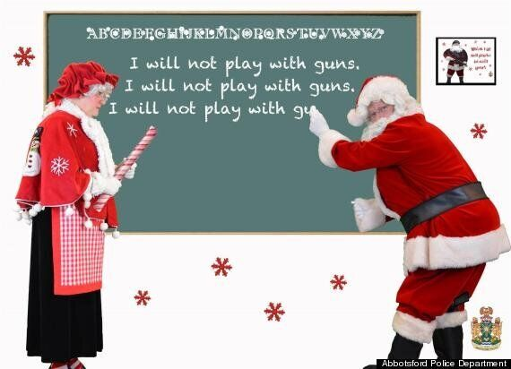 Abbotsford Police Christmas Card Targets Gangsters