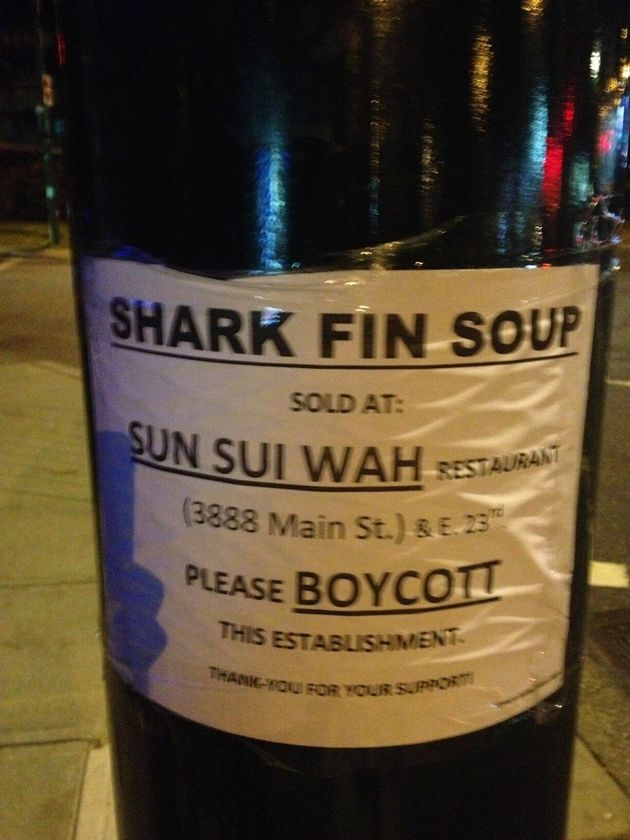 Shark Fin Soup Protest At Sun Sui Wah Stepped Up With