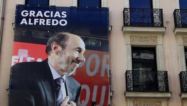 Fachada de la sede del PSOE en