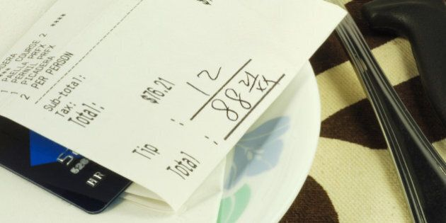 pay the dinner bill in a...