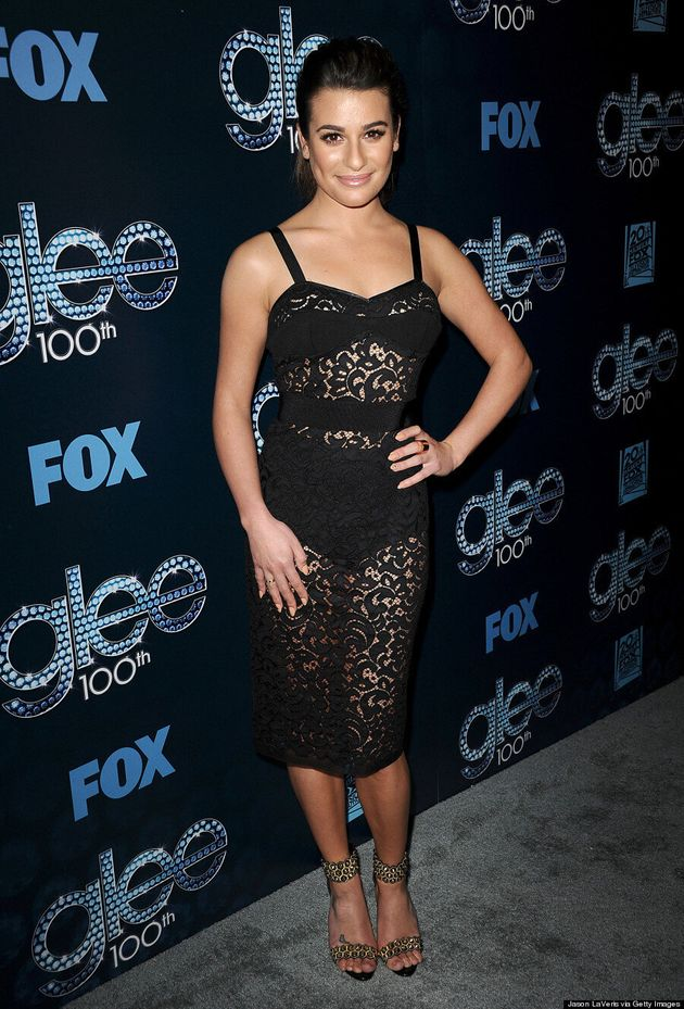 Lea Michele Dons Lace In The Sexiest Way Possible At 'Glee'