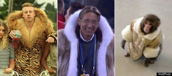 Joe Namath's Super Bowl Coat vs. IKEA Monkey vs. Macklemore: Who Wore It Better?