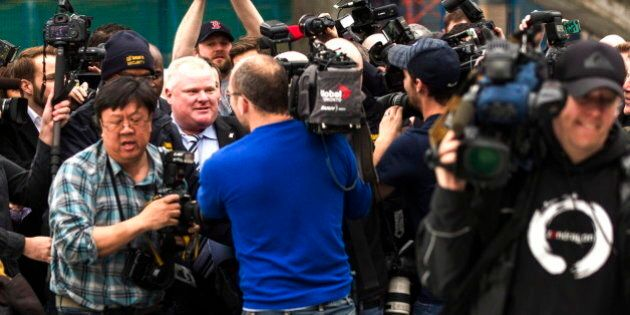 Rob Ford Gets Very Physical With Media At City Hall