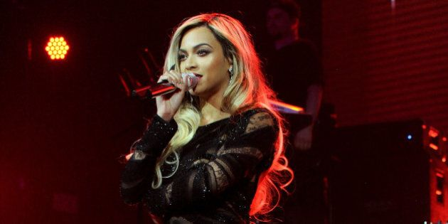 NEW YORK, NY - FEBRUARY 01: Entertainer Beyonce performs onstage at DirecTV Super Saturday Night at Pier...