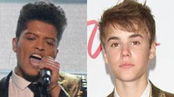 Bruno Mars Channels Justin Bieber At Super