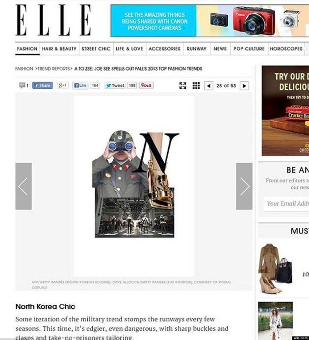 Elle Magazine's 'North Korea Chic' Fashion Piece Angers Human Rights