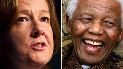 Mandela Builds Up, Breaks Down Redford's