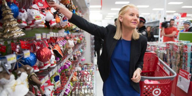 Elisha Cuthbert tours the Shoppers World Danforth Target store location for a surprise shopping event...