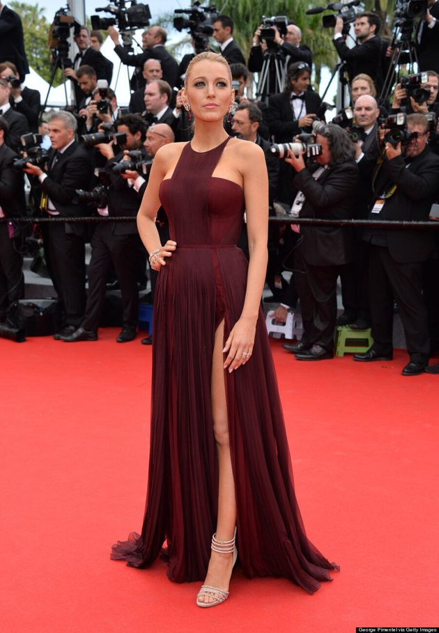 Blake Lively's Cannes 2014 Dress Turns Heads With Thigh-High