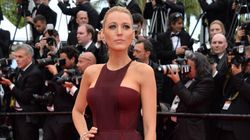 Blake Lively Turns Heads In Thigh-High Slit