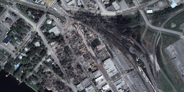 Google Maps Captures Lac-Megantic Devastation; Residents Call It