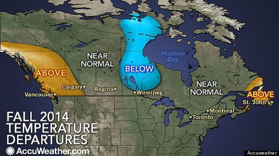 Canada Fall Weather Forecast Sees A Cool Start In Southern Ontario