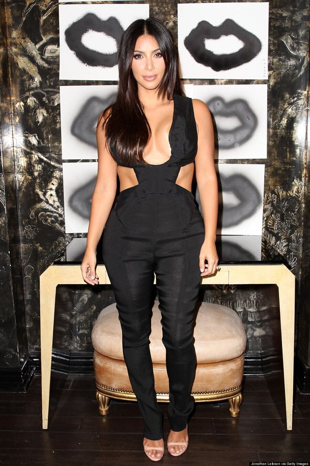Kim Kardashian Leaves Nothing To The Imagination In Cutout