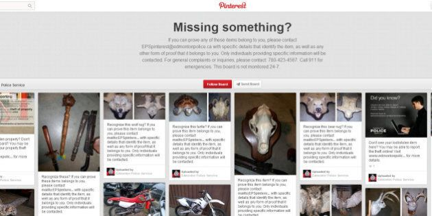 Edmonton Police Launch Pinterest Site For Stolen Goods