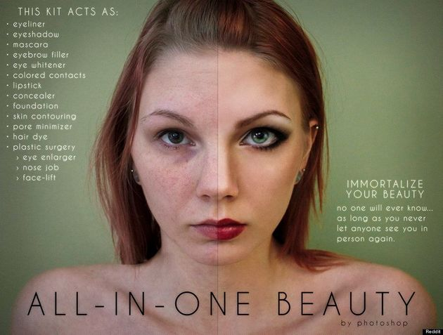 Photoshop Parody Beauty Ads Reveal Just How Much Photos Are Digitally