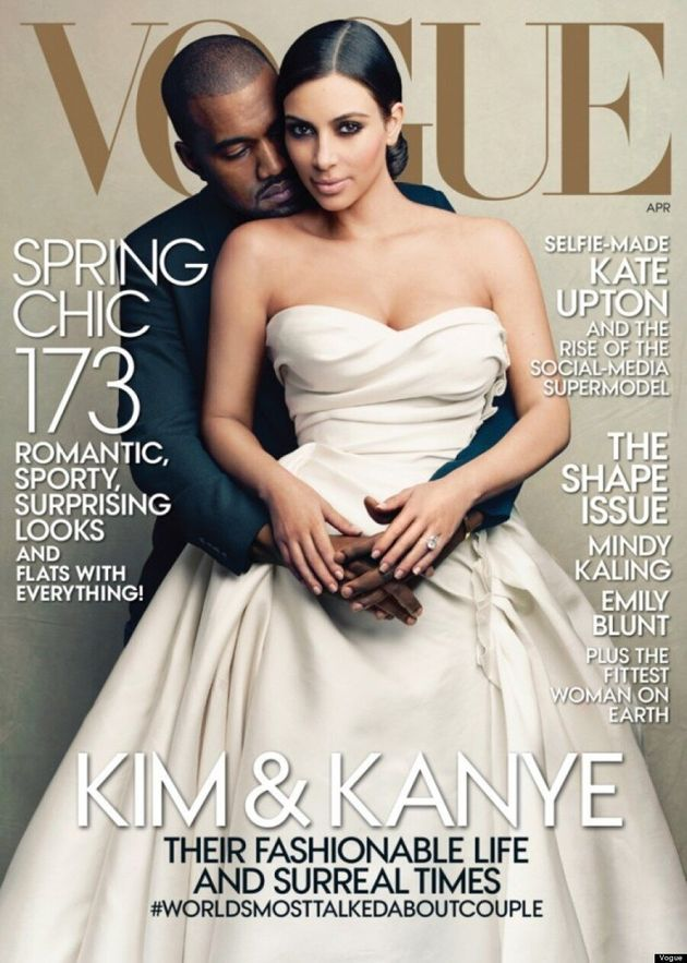 Kim Kardashian, Kanye West Cover Their First Vogue Issue,