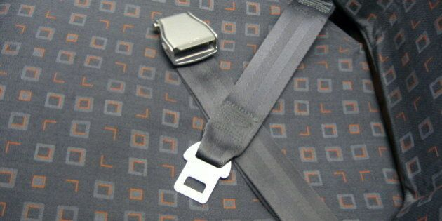 Seatbelt on an easyJet