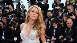 Blake Lively Rocks Super Low-Cut