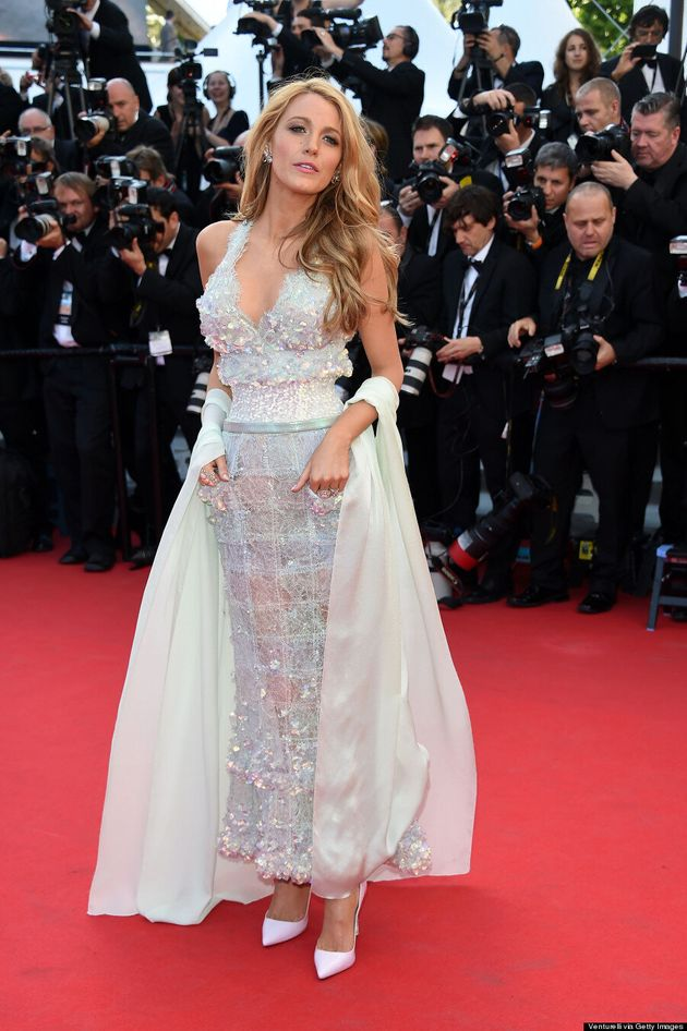 Blake Lively Rocks Chanel Illusion Dress At 2014 Cannes