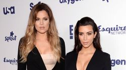 Kim And Khloe Wear Matching Booty-Hugging