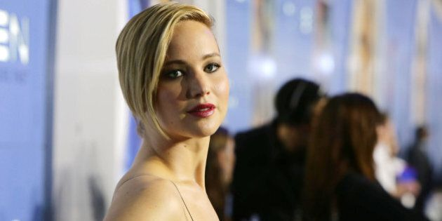 Jennifer Lawrence seen at the Twentieth Century Fox Global Premiere of 'X-Men: Days of Future Past' held...