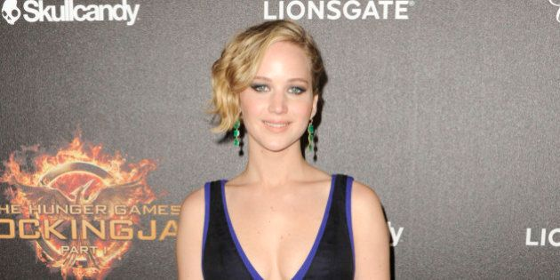 Jennifer Lawrence seen at the Hunger Games: Mockingjay - Part 1 party at the 67th international film...
