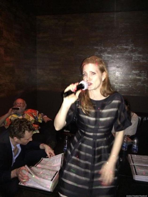 Jessica Chastain's Karaoke Outfit Is Spot On