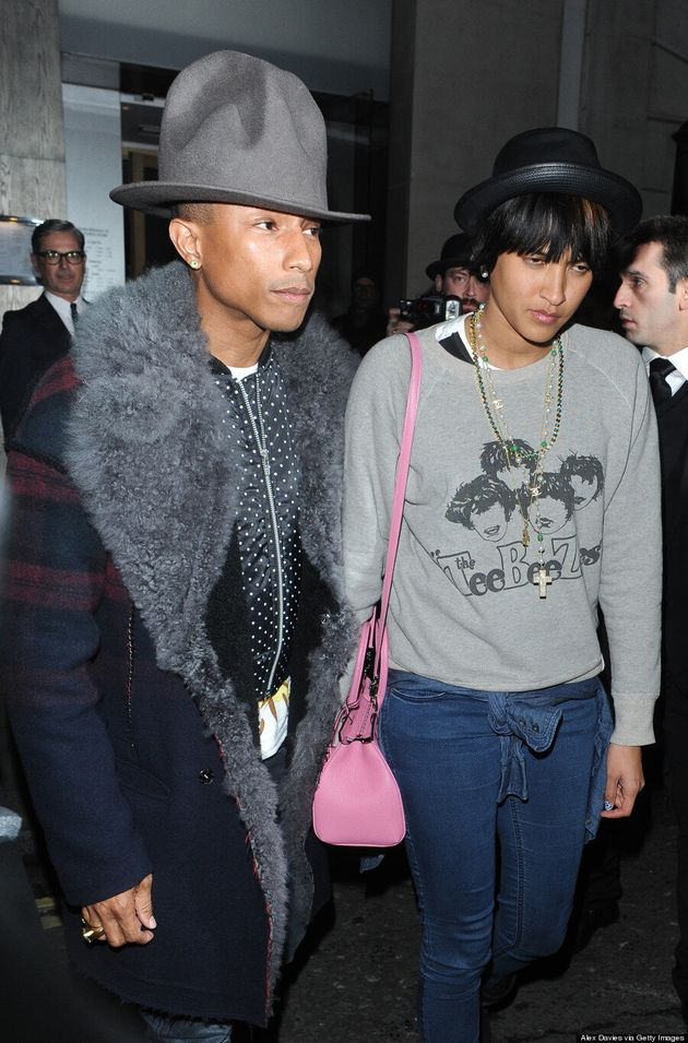 Pharrell Williams Recreates His Grammys Hat Magic