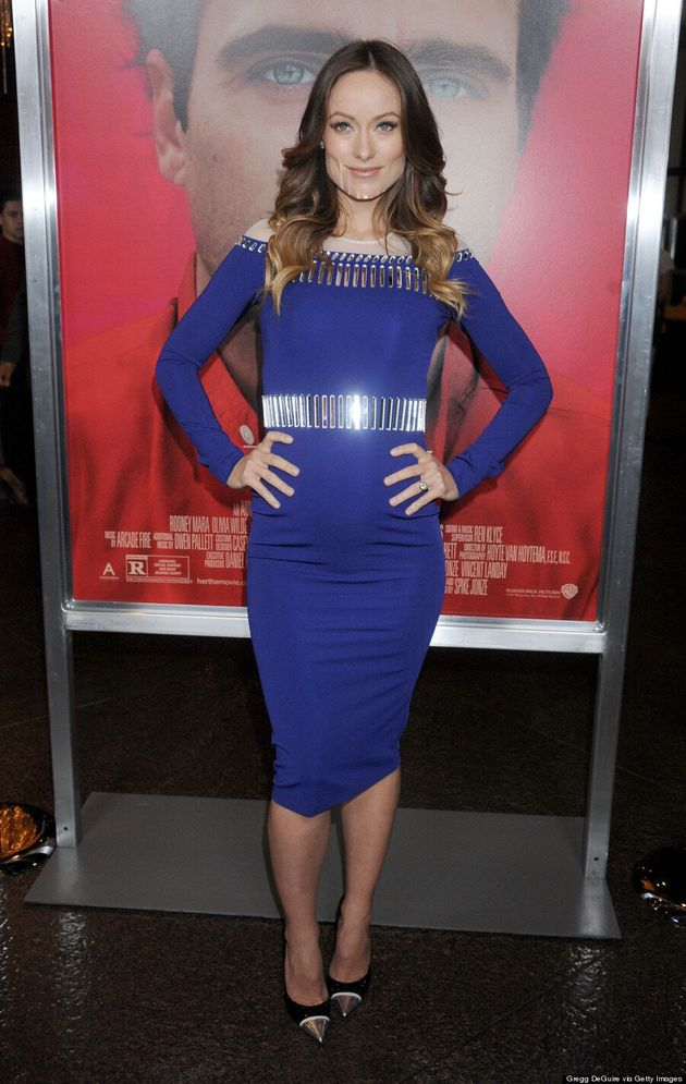 Olivia Wilde Flaunts Growing Baby Bump At 'Her' Premiere