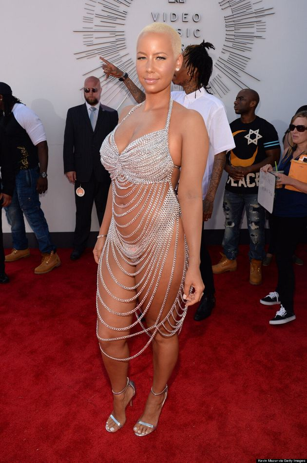 Amber Rose's 2014 MTV VMAs Outfit Literally Leaves Nothing To The